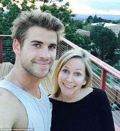 Like mother like son: Liam Hemsworth shared a photo with his mother Leonie to Instagram on Sunday, showing fans where he gets dreamy blue eyes