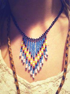 CUSTOM Native Fringe Necklace. $36.00, via Etsy. by Moondial Gypsy