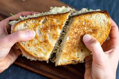 have a melty, cheesy jackfruit tuna melt packed with a super tasty filling, just like we used to back in the day. The fact that the sandwich was. Tuna Melt Sandwich, Tuna Melts, Sandwich Recipes, Lunch Recipes, Breakfast Recipes, Whole Food Recipes, Vegan Recipes, Cooking Recipes, Cooking Tips