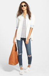 Treasure&Bond Chambray Shirt, Amour Vert Tank & Paige Denim Jeans