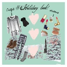 """""""#Holiday Look!"""" by shelbsinstyle ❤ liked on Polyvore featuring Estée Lauder, Dolce&Gabbana, Nails Inc., Christian Dior, UGG, Bdellium Tools and Smith & Cult"""