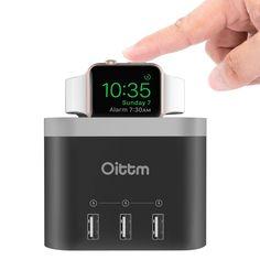 Apple Watch Stand, Nightstand Oittm 4 Ports USB 3.0: Amazon.co.uk: Electronics