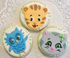 Daniel Tiger sugar cookie favors by CookieCheers on Etsy