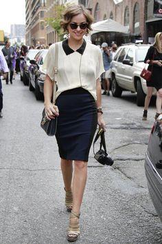 Черная классическая модная юбка карандаш 2016 - фото новинки и тренды сезона