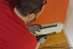 How to Remove Baseboard Radiators Covers #cleaningtips