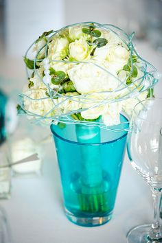 #weddingbouquet #brautstrauss #weiss #creme #türkis #mint #hochzeit #heiraten #berlin #hochzeitsplaner #weddingplanner Foto: AufWolke7, Berlin Weddingplanner: Sarah Linow, Berlin