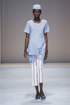 Amanda Laird Cherry   Spring Summer 2018    Look 17   Photo by Eunice Driver for South African Fashion Week South African Fashion, African Fashion Designers, Spring Summer 2018, Amanda, Zen, Cherry, Mens Tops, T Shirt, How To Wear