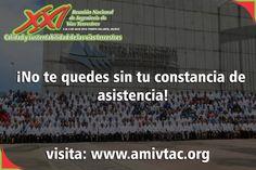 Descarga tu constancia de la XXI Reunión Nacional de Ingeniería de Vías Terrestres, celebrada en Puerto Vallarta, Jalisco, más información: www.amivtac.org