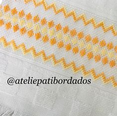 Hand Embroidery Stitches, Ribbon Embroidery, Hand Stitching, Embroidery Designs, Cross Stitch Borders, Cross Stitch Flowers, Cross Stitch Patterns, Crochet Patterns, Bargello Needlepoint