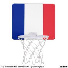 Flag of France Mini Basketball Goal Mini Basketball Hoops