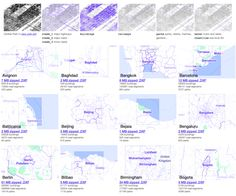 241 CAD files of metropolitan areas, for architectural and urban planning applications.
