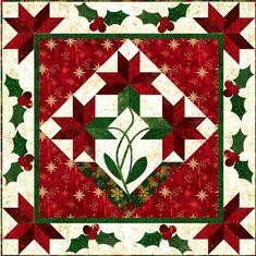 Poinsettia Medallion quilt by Patti Carey at Front Porch Quilt Shop