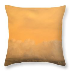 Sky Fire 004 by Tony Grider - Sunset Throw Pillow