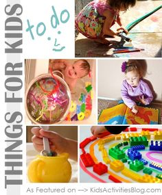 5 Things to do with kids - have fun with them at home this weekend!