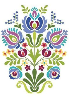 computer Folk Embroidery Patterns Hungarian Folk Art Blue and Purple Flowers - Hungarian Folk Art Print This is an image created in Adobe Illustrator and inspired by the beautiful folk desig Hungarian Embroidery, Folk Embroidery, Learn Embroidery, Embroidery Patterns, Embroidery Tattoo, Folk Art Flowers, Flower Art, Drawing Flowers, Bordado Popular