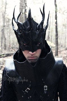 Dark Mage Mask by FeralCrafter on Etsy