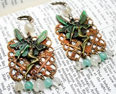 Hey, I found this really awesome Etsy listing at https://www.etsy.com/listing/248765730/green-fairy-earrings-filigree-gypsy