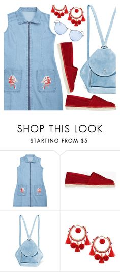 """""""Denim dress 55"""" by deeyanago ❤ liked on Polyvore featuring Dsquared2, MANU Atelier and Ray-Ban"""
