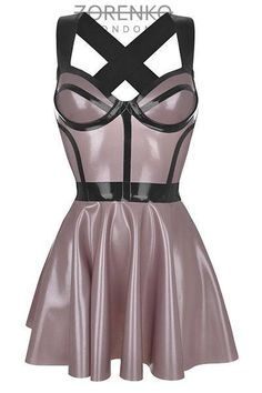 loving the colour choice here too. RITZ Latex Skater Cage Dress by ZorenkoLondon on Etsy Sexy Latex, Latex Wear, Latex Dress, Sexy Dresses, Fitted Dresses, Tight Dresses, Mode Latex, Rubber Dress, Sexy Cocktail Dress
