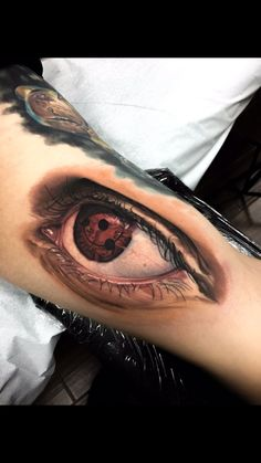 Sharingan done on me by Jake Ross, who tattoos out of Stay True Tattoo in Mentor, Ohiota