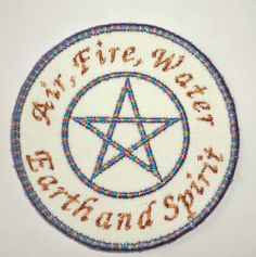 Iron-On Patch WICCAN PENTACLE by NancysPatches on Etsy