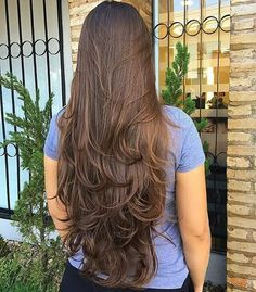 "fadijadi: ""Nothing but sexy silky hair "" Haircuts For Long Hair With Layers, Haircuts Straight Hair, Haircut For Thick Hair, Long Hair Cuts, Long Layered Haircuts, Long Hair Styles, Long Layered Hair Wavy, Beautiful Long Hair, Gorgeous Hair"