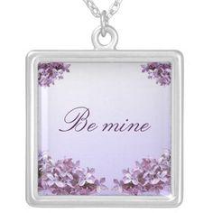 Elegant Lilac Valentine Pendants