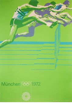 Blast from the Past: German designer Otl Aicher is known for his minimal and retro styles exemplified in his poster designs for the 1972 Olympics in Munich. Munich, 1972 Olympics, Summer Olympics, International Typographic Style, Otl Aicher, Sports Graphics, Kids Graphics, Poster Ads, Art Graphique