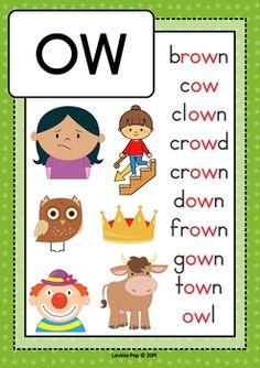 by Lavinia Pop Phonics Chart, Phonics Flashcards, Alphabet Phonics, Phonics Worksheets, Kindergarten Learning, Preschool Learning Activities, Kids Learning, Work Activities, Learning Spanish