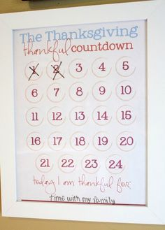 scrapbook countdown calendar | Printable paper calendar from Tip Junkie you can frame and mark off ...