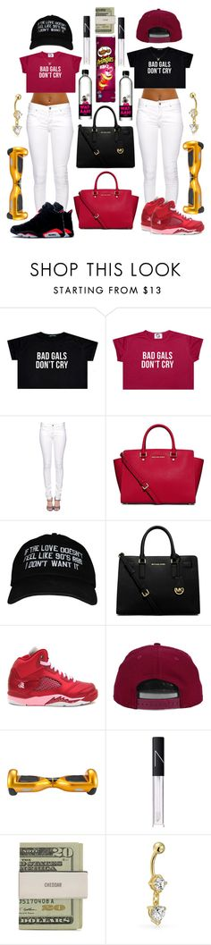 """""""twin$."""" by l0vekennedyy ❤ liked on Polyvore featuring Citizens of Humanity, MICHAEL Michael Kors, Ion, Retrò, H&M, NARS Cosmetics and Bling Jewelry"""