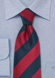 XXL-Krawatte gestreift rot marineblau günstig kaufen