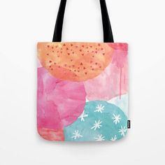Colourful watercolour pattern, shopping bag, grocery bag, canvas bag, cotton canvas tote bag, quote bag by MiniMoiPrints on Etsy https://www.etsy.com/uk/listing/519397659/colourful-watercolour-pattern-shopping
