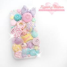 Kawaii x Couture (Posts tagged fairy kei) Kawaii Phone Case, Girly Phone Cases, Decoden Phone Case, Diy Phone Case, Iphone Phone Cases, Ice Crafts, Resin Crafts, Candy Art, Kawaii Jewelry