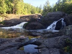 2. Dead River Falls (2 miles west of Marquette)