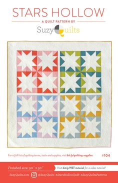 Suzy Quilts Sewing Pattern - Stars Hollow