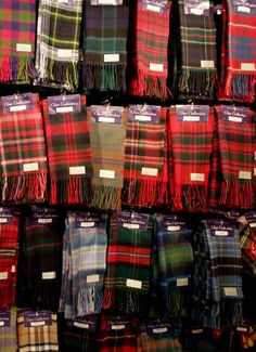 Selection of Tartan Scarves