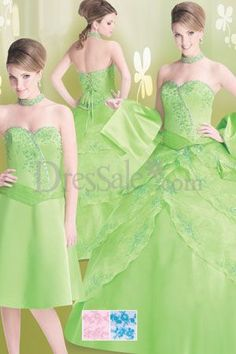 resh in Green Quinceanera Dress in Ball Gown Silhouette with Glaring Beads ...    dressale.com