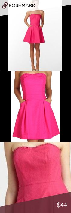 Lilly Pulitzer Blossom Azalea Pink Dress So cute! EUC Strapless dress with pockets✌️☺️ Mire pictures to follow. Lilly Pulitzer Dresses