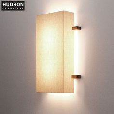 Linen Shade Sconce with walnut trim