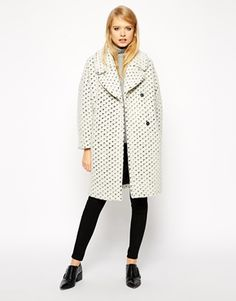 This textured peacoat is everything #currentlyobsessed #fashion