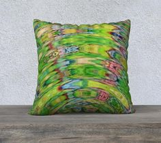 The Ripple Effect II, Lemon Lime - Pillow Cover, Square, 22x22