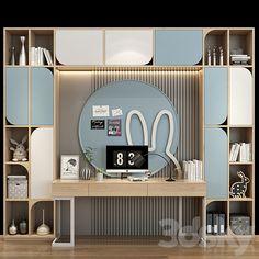 Study Table Designs, Study Room Design, Kids Room Design, Kids Bedroom Designs, Bedroom Bed Design, Kids Study Spaces, Wardrobe Furniture, Home Building Design, Teenage Room