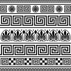Conjunto de ornamentos griego vector — Ilustración de stock #5830031