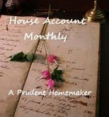 keeping a ledger of household accounts.