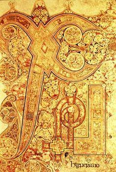 Book of Kells, ca. 800, Ireland.