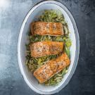 Baked Salmon with Leeks and Fennel. Serve with mashed potatoes for a complete meal. The recipe can easily be increased to serve additional guests. Fennel Recipes, Salmon Recipes, Fish Recipes, Seafood Recipes, Cooking Recipes, Healthy Recipes, Salmon And Leek Recipe, Leek And Fennel Recipe, Savoury Recipes