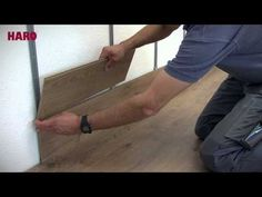 Laminatboden an der Wand montieren – Verlegeanleitung HARO Laminat (deutsch) - YouTube