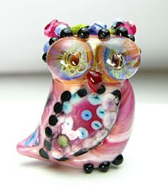 The Glass Owl: Four Fanciful Fowl Spotted Owl, Subject Of Art, Whimsical Owl, Owl Always Love You, Beautiful Owl, Lampworking, Owl Print, Owl Jewelry, Glass Animals