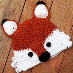 A personal favorite from my Etsy shop https://www.etsy.com/listing/252002933/crochet-fox-hat